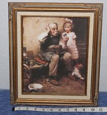 Norman Rockwell Painting 'The Cobbler' 11 x 13