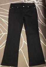 7 for all mankind boot cut jeans sz 31 inseam 32 black denim EUC mid-rise