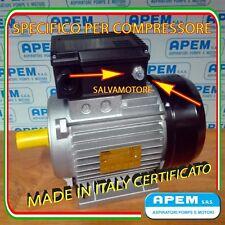 MOTORE ELETTRICO ITALIANO 3 HP MONOFASE COMPRESSORE  3cv 2,2KW 2800 GIRI NO CINA