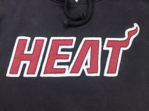 "Faded Black HEAT NBA Basketball Hoodie Pullover Sweatshirt S (Pit To Pit 22"")"