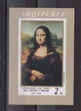 TIMBRE STAMP BLOC ALBANIE Y&T#12 ART PEINTURE JOCONDE NEUF**/MNH-MINT 1969 ~C55