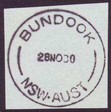 """NSW POSTMARK """"BUNDOCK"""" DATED 1980 (A12871)"""