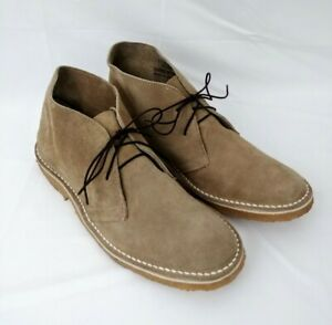 Vintage Chukka Desert Boots Tan Suede Men's 11 Made in Spain