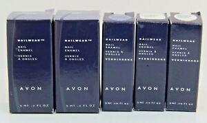 NIB Lot Of 5 AVON Nailwear Nail Polish Nail Enamels