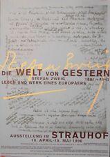 Original Plakat - Ausstellung im Strauhof Zürich - Die Welt von Gestern