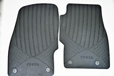 Genuine Official Vauxhall CORSA D & E FRONT RUBBER FLOOR MATS 13483187 NEW