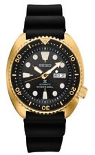 New Seiko SRPC44 Prospex Automatic Diver Gold Tone Silicone Strap Mens Watch