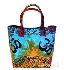 Om Printed Multi Tie Dye Street Tote Bags Women Beach Towel Shoulder Bag Throw