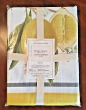 "New with Tags WILLIAMS SONOMA Meyer Lemon TABLECLOTH 70"" x 120"" Retail $124.95"