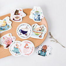 45x Cup Of Animals paper sticker decor DIY diary scrapbooking label sticker New