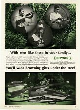 1965 BROWNING Rifles Shotguns Pistols Scopes Gifts For Christmas VTG PRINT AD