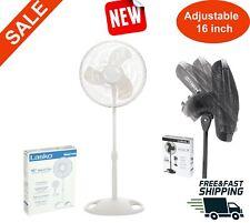 16 inch Pedestal Fan standing floor room adjustable 3 speed white home bedroom
