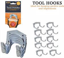 TOOL STORAGE HOOKS Metal Double Arm Hanger Garden Garage Shed Workshop Tidy