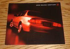 Original 2002 Buick Century Deluxe Sales Brochure 02