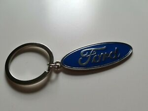 NEW Blue Ford Key Ring Metal Chrome Car Logo Stainless Key Chain Keyring Key Fob