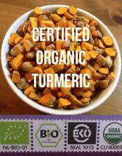 Fresh CERTIFIED ORGANIC Turmeric Roots 100g  Free P+P (UK) Golden Paste Curcumin