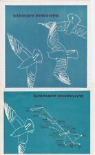 Bahamas Airways Napkin and Map & Brochures Airlines Vintage Ephemera