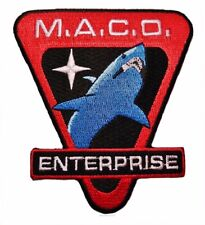 "Star Trek Enterprise Maco Commandos Shark 3 1/2"" Wide Embroidered Patch"