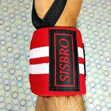 Weight Lifting Wrist Support Wraps Gym Training  Bandage Cotton Straps 18""