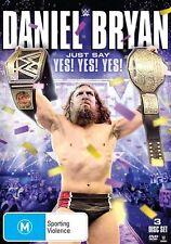 WWE - Daniel Bryan - Just Say Yes! Yes! Yes! (DVD, 2015, 3-Disc Set) - Region 4