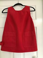 MM6 BY MAISON MARGIELA, KNOTTED RACER-BACK DENIM TOP IN RED, size 42