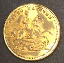 Queen Victoria Brass gaming token no date