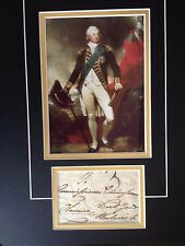 KING WILLIAM IV - KING OF GREAT BRITAIN - SIGNED COLOUR DISPLAY AS ' CLARENCE '