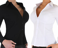 Damen Stretch Business Bluse Hemd Damenbluse ★ 13p