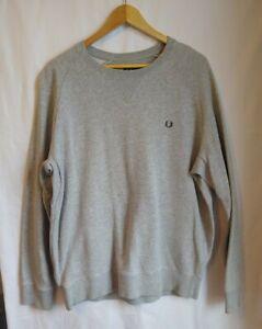 Fred Perry Men's Grey Sweatshirt Size XXL