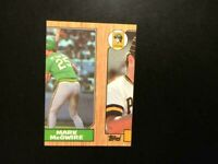 1987 Topps Mark McGwire # 366 Rookie - ERROR! RARE!! Athletics  MINT-FREE SHIP