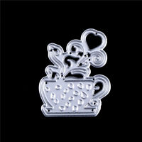 Cup of Flower Metal Cut Dies Stencils For DIY Scrapbooking DIY Album Cards De SL