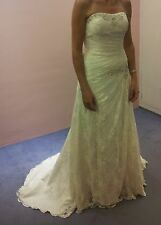 Beautiful wedding dress size 10, worn once. Dry cleaned & excellent condition