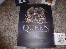 QUEEN, Freddie Mercury, Brian May, Roger Taylor, Lambert, CROWN JEWELS POSTER!