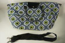 Large Gray Lime Green Handbag Overnight Canvas Bag