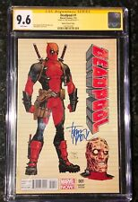 DEADPOOL 1 2013 MOORE VARIANT CGC 9.8 SS SIGNED BY TONY MOORE MOVIE DOMINO CABLE