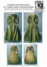Civil War - Victorian era Day Dress size 6-26 Laughing Moon Sewing Pattern # 111