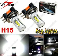 2pc Xenon White 80W H15 High Power 64176 For BMW BENZ LED Daytime Driving Lights