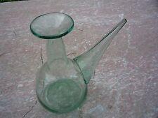 Porron en verre soufflé ancien/verre de fougère/belle marque da la canne