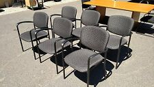 Conference Room Or Guest Chairs Black Metal Frames Fabric Wedeliverlocallynorca