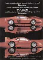 pagina pubblicitaria POCHER FALLER 1992 Ferrari Testarossa Modellbau  D  aa