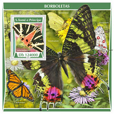 Sao Tome & Principe 2017 MNH Butterflies 1v S/S Butterfly Insects Stamps
