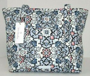 Vera Bradley SMALL VERA TOTE in LISBON MEDALLION Zip Top Shoulder Bag
