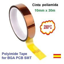 Cinta poliamida Térmica 10mm Polyimide Tape Soldering Shielding BGA PCB SMT
