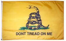 3x5 Tea Party Gadsden Culpeper Culpepper Perma Dye Nylon Poly Flag 3'x5' (fl038)