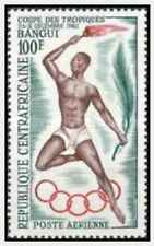 Timbre Sports Centrafrique PA9 ** lot 28347