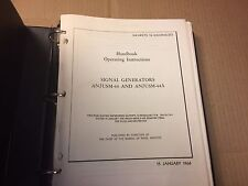 AN/USM-44 44A Signal Generator Service Manual Original Factory Repair Schematics