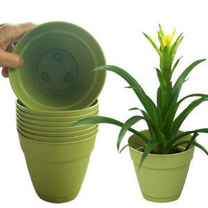 """8pk Newbury 6"""" Indoor/Outdoor Planters with Removable Saucers For Plants Herbs"""