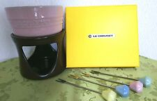 "Le Creuset Cheese Fondue Set Pastel color "" KAWAII "" With Box From Japan"