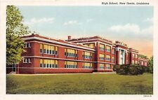 E9/ New Iberia Louisiana La Postcard c1940s High School Building