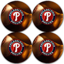Philadelphia Phillies Baseball Rubber Round Coaster set (4 pack)  RNDRBRCSTR2020